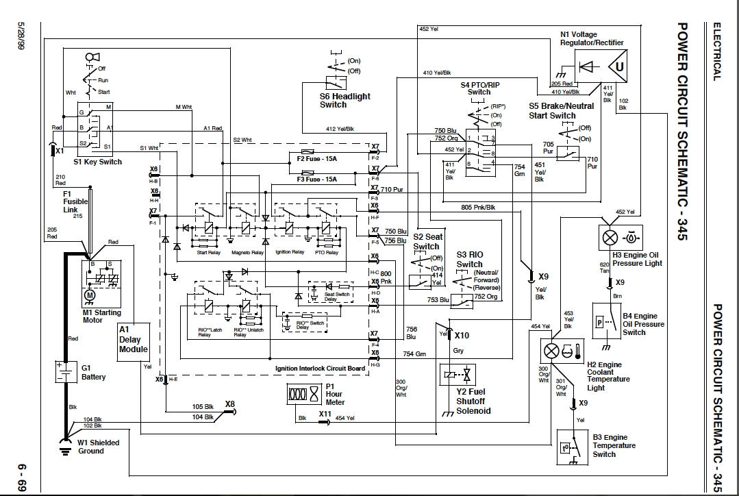 2001 John Deere 345 20HP electrical problem | My Lawnmower Forum | Gx345 Wiring Diagram |  | My Lawnmower Forum
